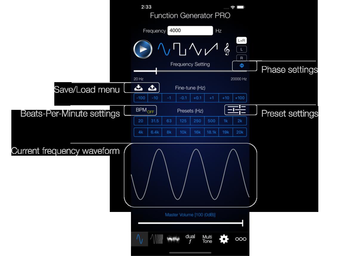 Audio Function Generator Electronics Engineering Apps Pro