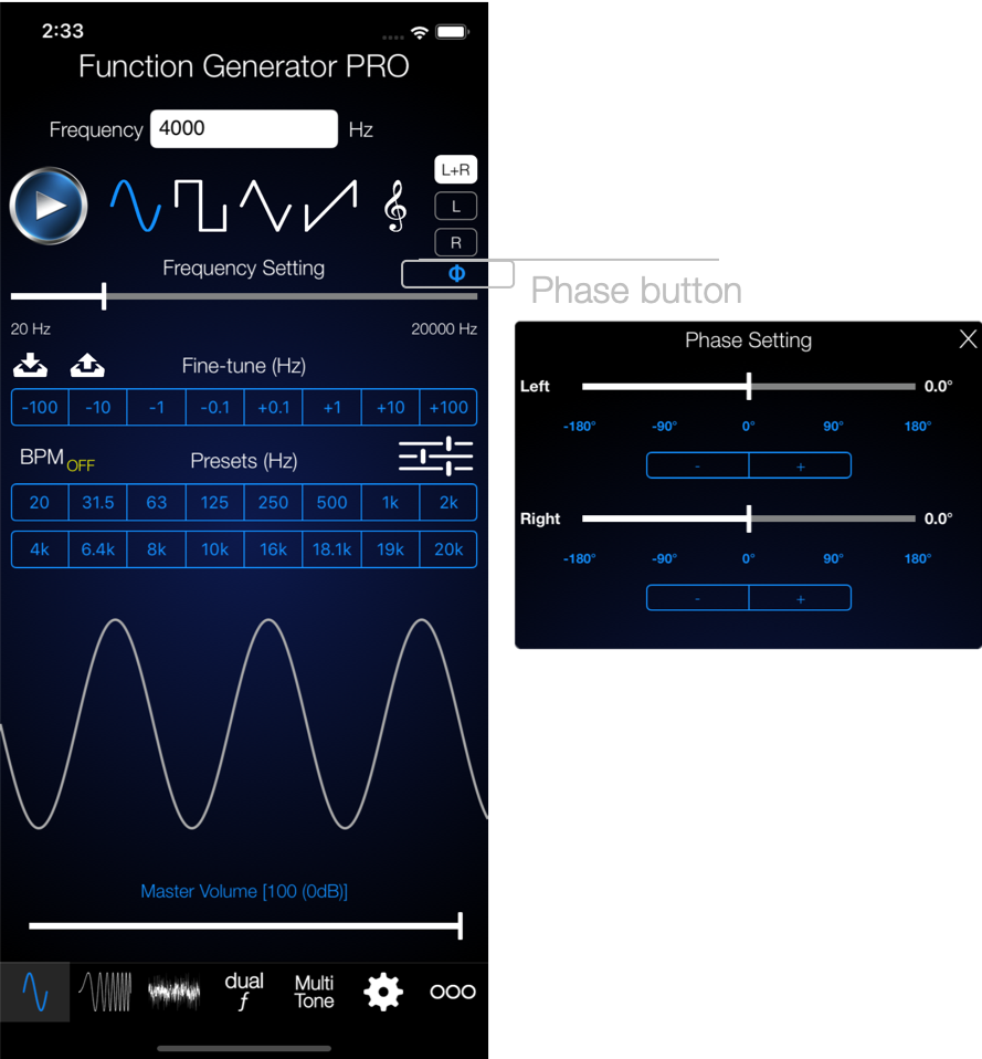 Audio Function Generator - Electronics Engineering Apps  PRO